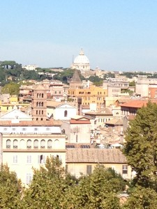 View of St. Peter's from Aventino hill