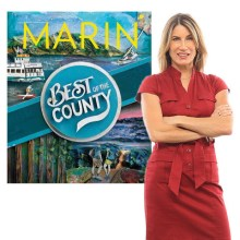 Why is Marin one of the healthiest places to live in the state?