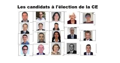 Election de la CE : les candidats