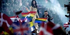 Conchita Wurst ved Melodi Grand Prix 2014