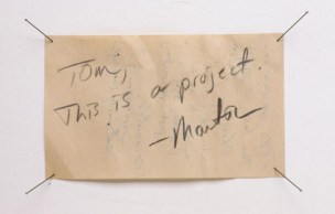 Tom, This is a Project (detail)