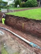 Pipes laid to pump concrete 3