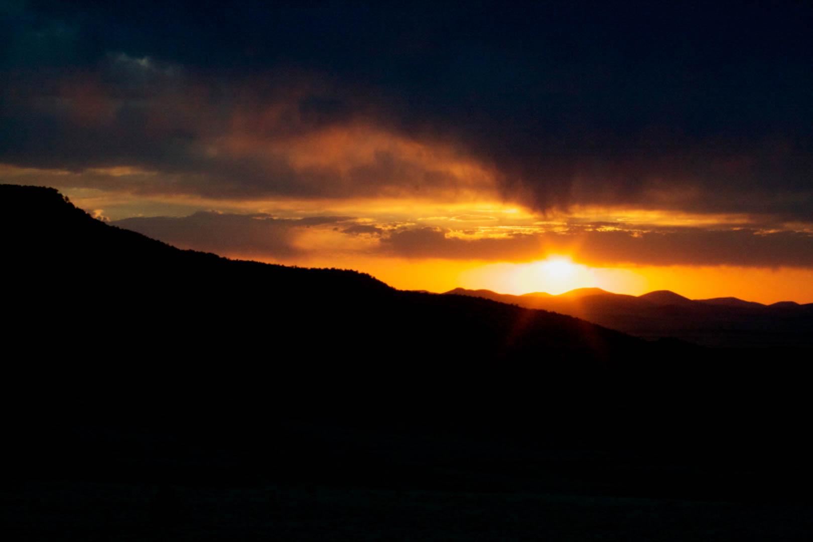 Arizona White Mountains RV Campground Sunset