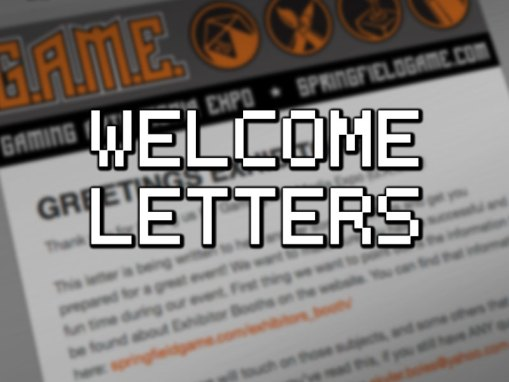 WELCOME LETTERS