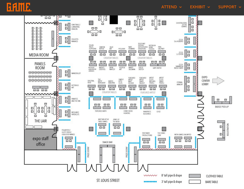 Updated room layout map game expo updated room layout map malvernweather Gallery