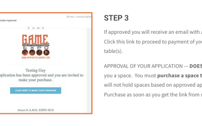 APPLICATION DOES NOT GUARANTEE A SPACE