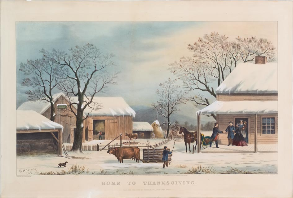 Home To Thanksgiving Currier Amp Ives Springfield Museums
