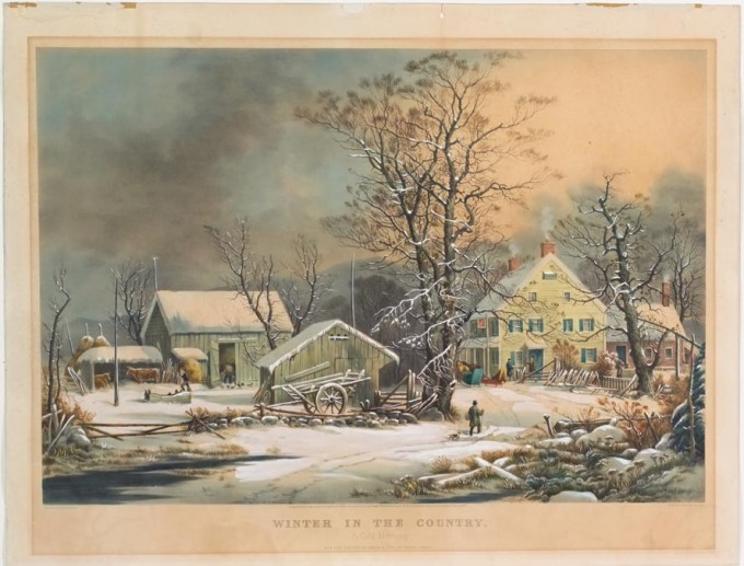 Winter In The Country A Cold Morning Currier Amp Ives