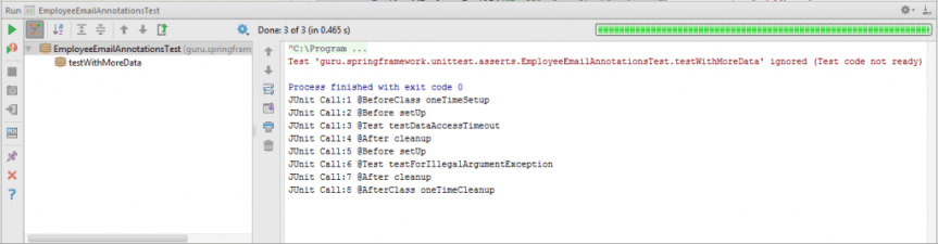 JUnit Output in IntelliJ