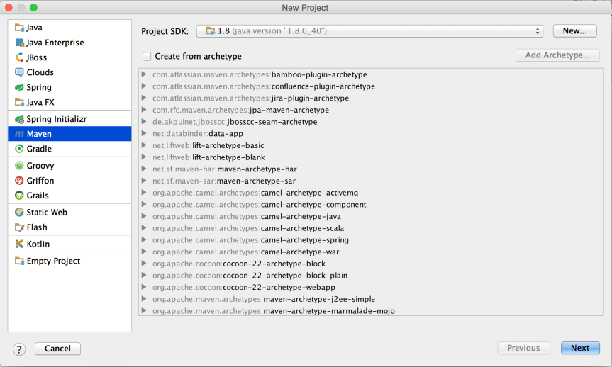 Create Maven Project in IntelliJ