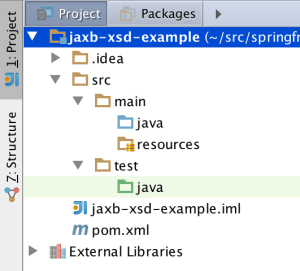 Maven project in IntelliJ