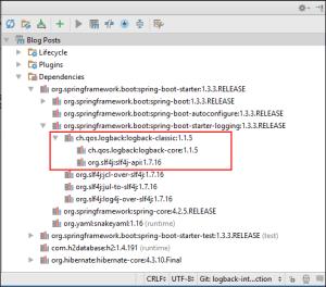 Logback Dependencies via Sprint Boot