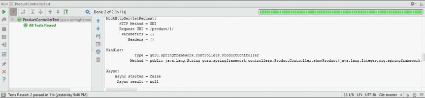Spring MockMvc IndexController Test Output