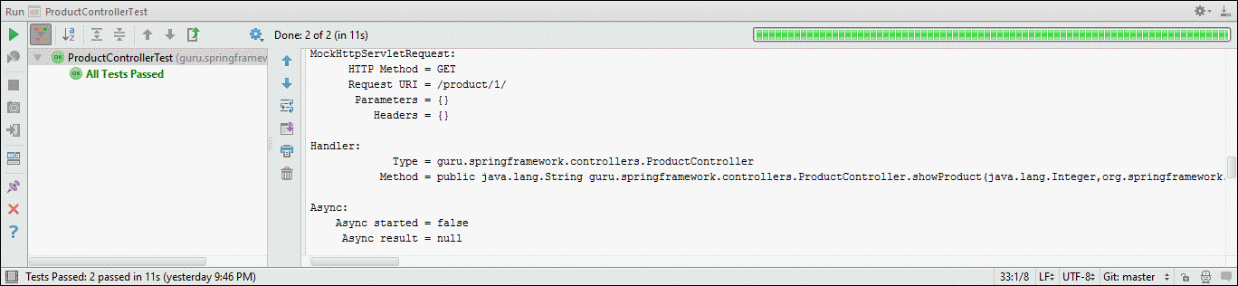 Spring MockMvc IndexController Test Output