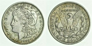 1921 Morgan Circulated Coins 1921 Morgan Silver Dollar Circulated