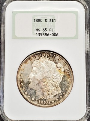 M04-7 1880 Morgan Silver Dollar