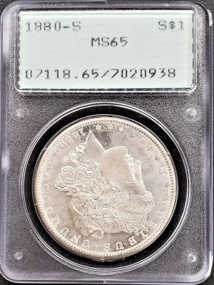 M04-8 1880 Morgan Silver Dollar