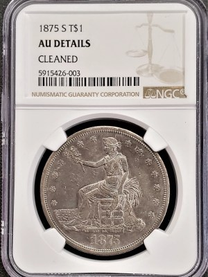 AC-6 1875 Trade Dollar