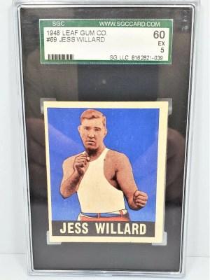 OTHER SPORTS CARDS 1948 Leaf Gum Co Jess Willard #69