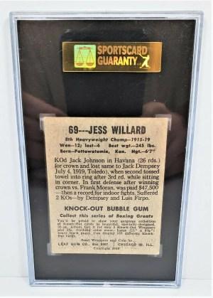 1948 Leaf Gum Co Jess Willard #69