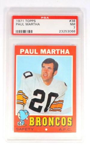 1971 Topps Paul Martha #38