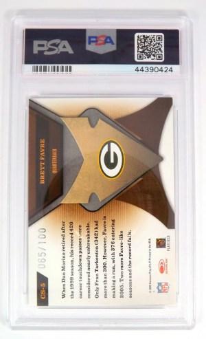 2005 Leaf Certified Materials Brett Favre #CS
