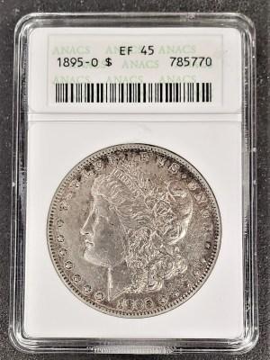 M04-70 1895 Morgan Silver Dollar ANACS EF45
