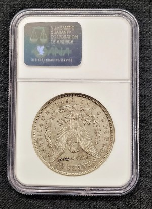 M21-1: 1921-D Morgan Silver Dollar NGC AU58