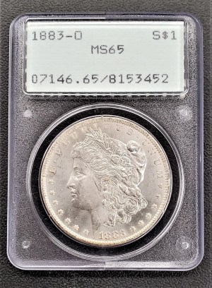 M04-25 1883 Morgan Silver Dollar PCGS MS65