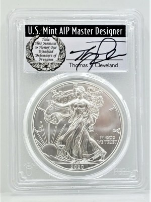 SE30 2020 PCGS MS70 FIRST DAY CLEVELAND DISABLED -1