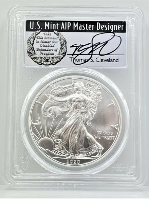 SE43 2020 PCGS MS70 FIRST DAY CLEVELAND DISABLED -1