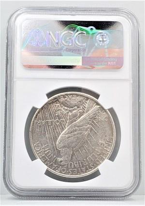 1934 D Silver Peace Dollar VAM-3 Large D DDO Motto NGC AU 55