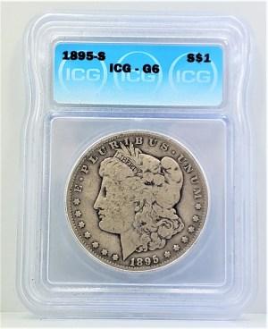1895 Morgan Silver Dollar ICG G6