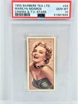1955 Barbers Tea LTD. Cinema & TV Stars #24 Marilyn Monroe