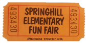 fun fair ticket stub