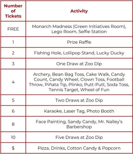 FF Ticket & Activity Guide