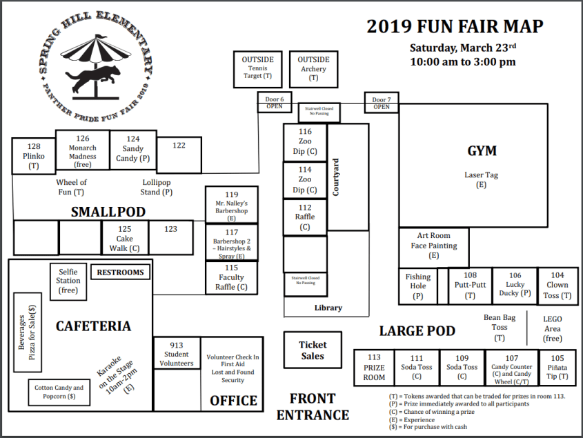2019 Fun Fair Map