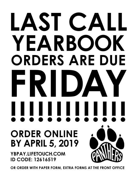 yearbook flyer