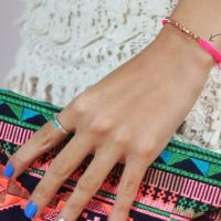 DIY : Bracelet neon & rose gold