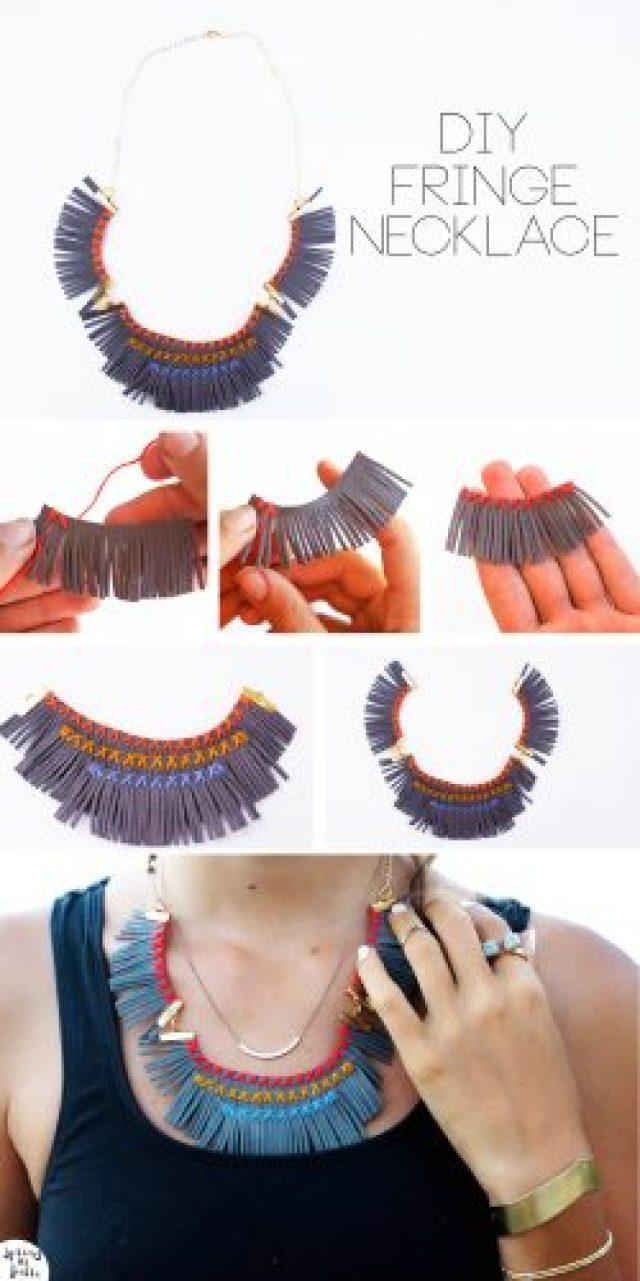 fringe necklace steps