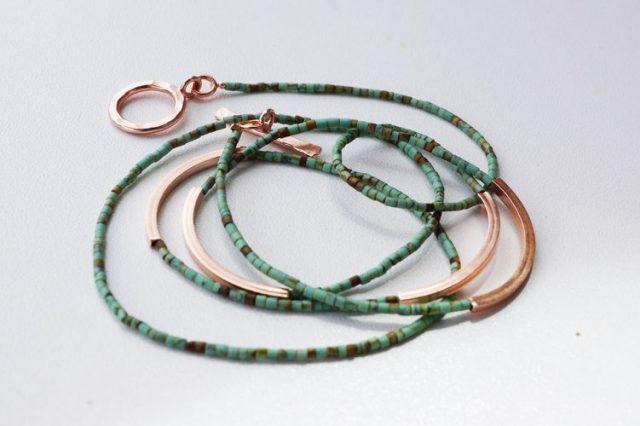 wrap bracelet rose gold