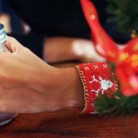 DIY : Manchette de noël scandinave brodée