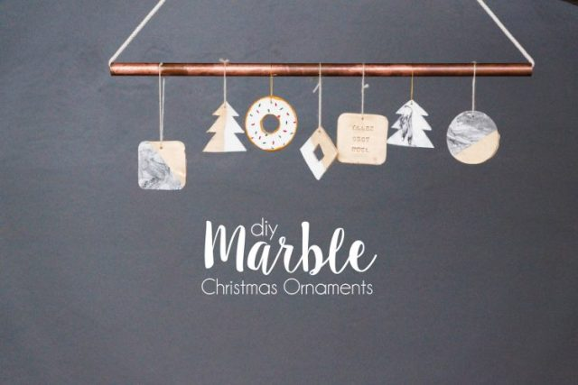 DIY christmas marble ornaments banner