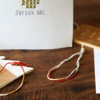 DIY : Bracelets messages de Noël