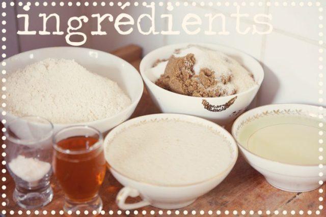 ingrédients cupcakes vegan