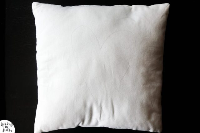 Coussin coeur - tracer coeur