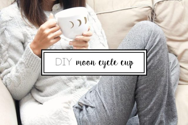 DIY moon cycle cup