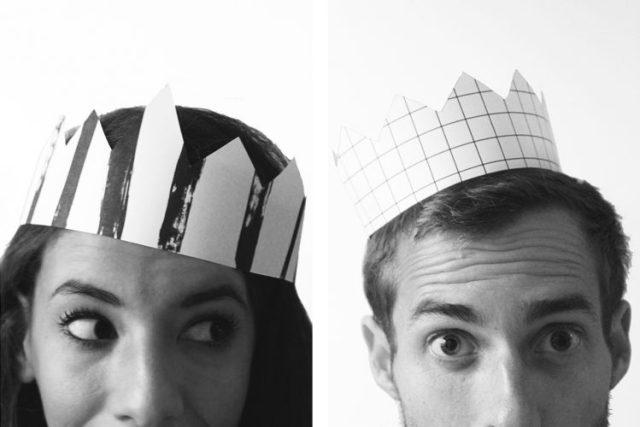 DIY printable couronne galette des rois BW - reine roi - 2