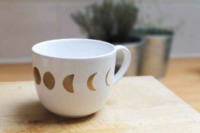 DIY tasse cycle de lune table