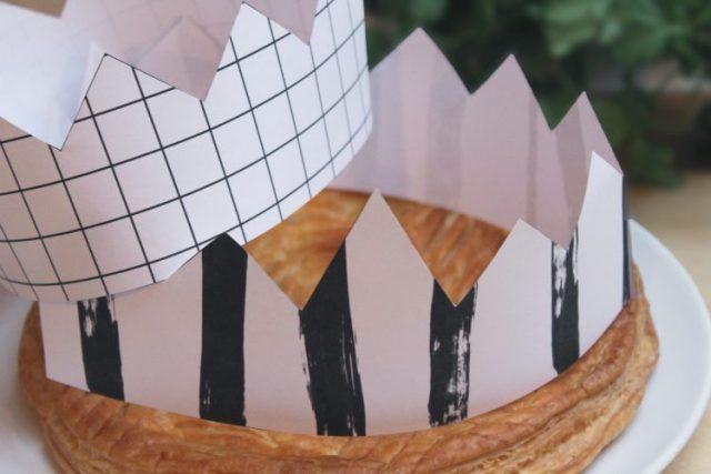 couronne galette des rois BW printable